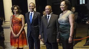 President Obama with President Zuma dinner in Pretoria NBC Chicago