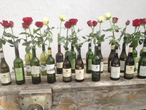 Durbanville Roses in bottles Whale Cottage Portfolio