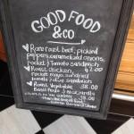 Good Food & Co Blackboard Whale Cottage Portfolio