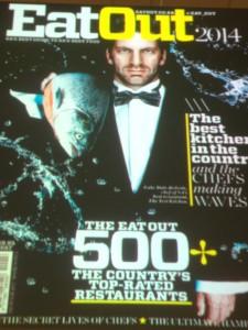 Eat Out magazine cover Whale Cottage Portfolio