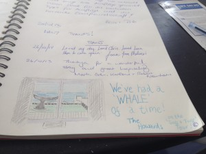 Whale Cottage Camps Bay Guest Book