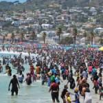 CAMPS BAY BEACH 1 JAN 2014 CAPE ARGUS