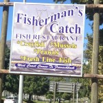 Fisherman's Catch & Grill Sign old Whale Cottage Portfolio