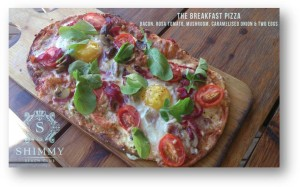 Shimmy's Beach Club Breakfast Pizza