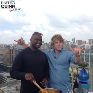Hayden Quinn 9 Chef Citrum Khumalo and Hayden Quinn Johannesburg