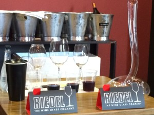 Riedel display Whale Cottage