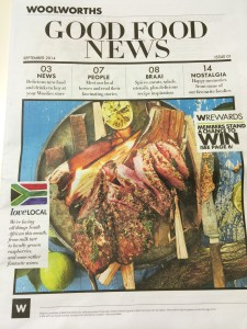 Woolworths Good Food News Front page Whale Cottage