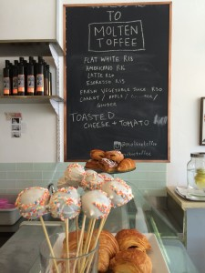 Molten Toffee Board and cake pops Whale Cottage