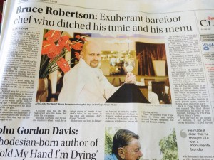 Bruce Robertson tribute in Sunday Times