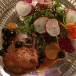 Diners WoY Quail starter Whale Cottage
