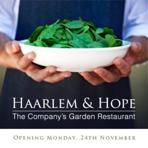 Haarlem & Hope opening 24 November