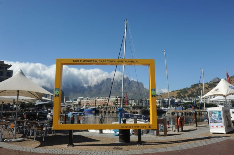 Table Mountain frame from V&A Waterfront