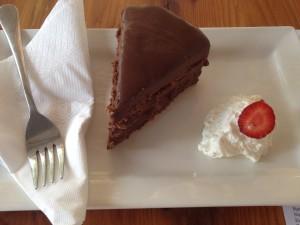 Chardonnay Deli Chocolate cake Whale Cottage