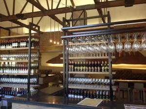 Franschhoek Cellar Bellingham Tasting Room Glasses and bottles Whale Cottage