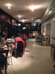 Turbine Island Cafe restaurant interior Whale Cottage