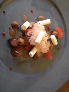 Open Door Chocolate Torte, grapefruit, meringue Whale Cottage
