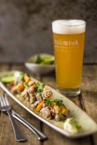 TukTuk Game Fish Ceviche, Sour Cream & Tortilla Crisps 1