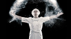 S Pellegrino Young Chef throwing flower